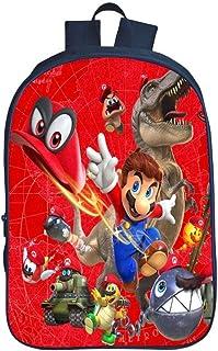 QWEIAS Mochila para niños - Super Mario Bros 3D Toddler Kids Mochila Escolar para niños pequeños - 16 Pulgadas Rucksack para 3-12 años – Regalo F