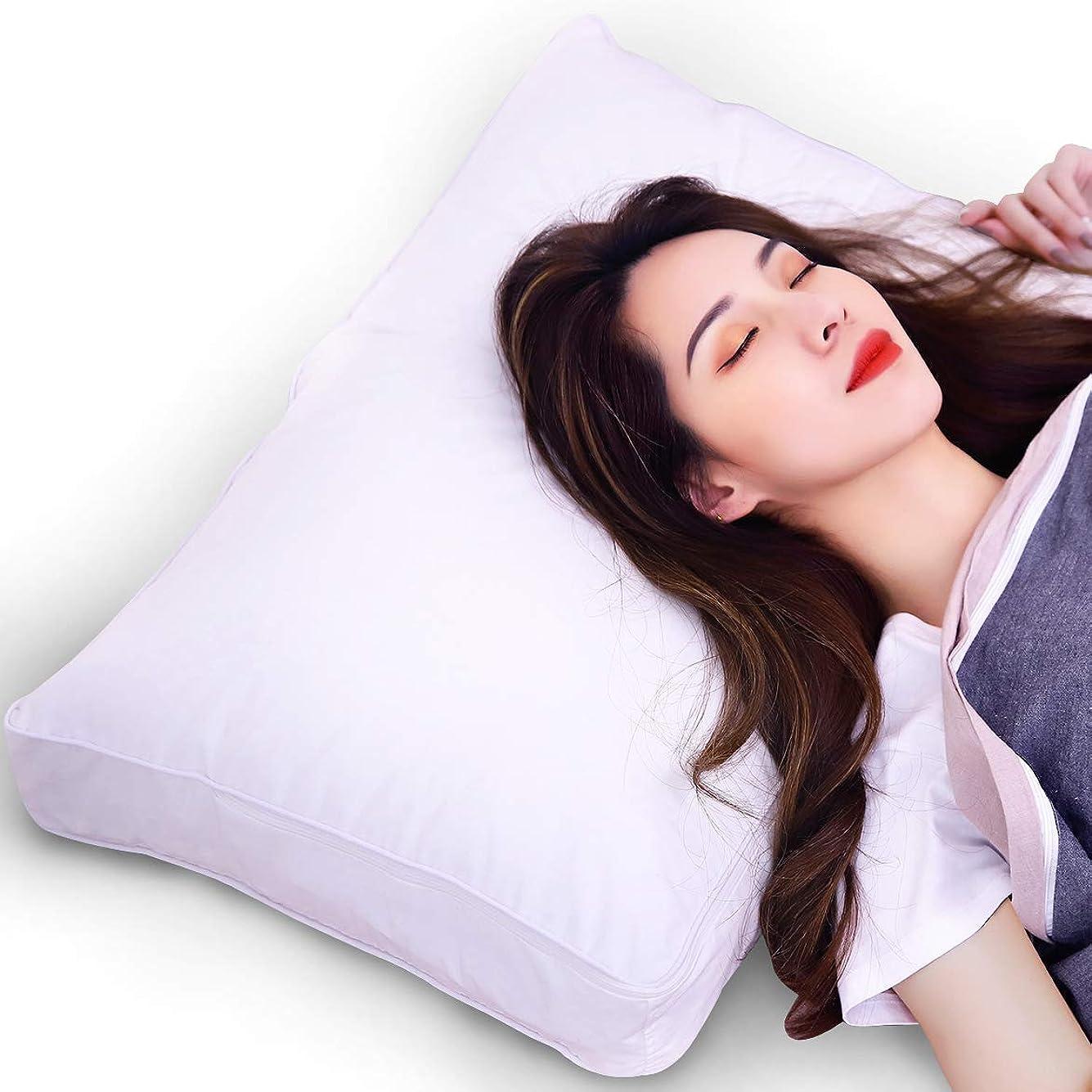 羊の小説家原告ARIZZ 枕 安眠 人気 肩こり 43x63cm「三段調節式 中身を取り出す可能 高さ自由調節 立体構造 横向き寝 肩こり解消」まくら 低反発枕 兼 高反発枕 日本語取扱説明書付き