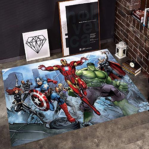 W-life Alfombra Alfombras Inicio Clásico Marvel Avengers Habitaciones Muchacho De La Historieta Alfombras Decoración De La Sala De Estar Dormitorio Cabecera del Sitio De Tapetes For Niños