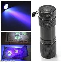 TIEM Aluminium 9 LED UV Flashlight Torch Ultra Violet purple light Detecter