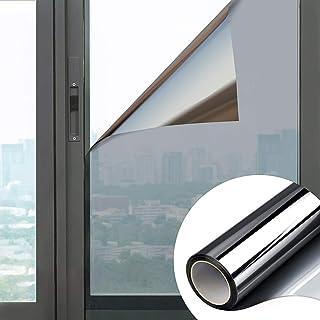 Film Miroir Auto Adhésif Film Solaire Fenêtre sans Tain 99% Anti Chaleur Anti UV Anti Lumière Anti Regard Protection de la...
