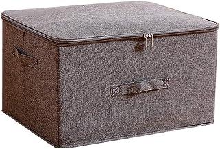 Vêtements Boîte De Rangement Avec Poignée, Pliable En Tissu Lavable À Grande Capacité De Finition De Conteneurs, Deux Voie...