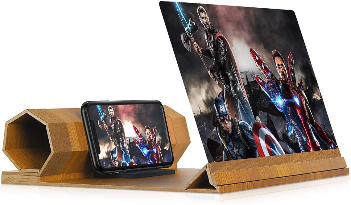 ampliador de pantalla 3d para celulares 12 pulgadas beige