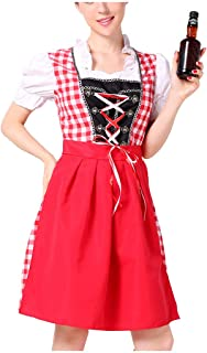 Guo Nuoen Beer Festival Dress for Women Party Cocktail Serving Maidservant Waitress Dirndl Cosplay Costumes Clothing