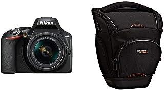 Nikon D3500 - Cámara Digital 242 MP VR (242 MP 6000 x 4000 Pixeles CMOS Full HD 365 g Negro) - Nikonistas & AmazonBasics - Funda para cámara de Fotos réflex Color Negro