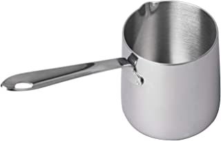 IMEEA Butter Coffee Milk Warmer Mini Butter Melting Pot Milk Saucepan with Spout 18/10 Tri-Ply Stainless Steel (12oz/370ml)
