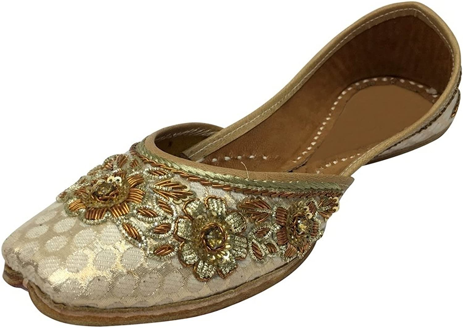 Step n Style Ladies Ethnic Traditional Flat Sandal Punjabi Jutti Khussa Saree shoes