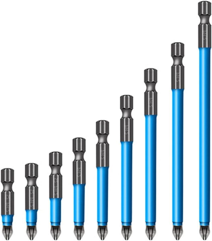 ZQDL Magnetic Anti-Slip Drill Bit 7Pcs Magnetic PH2 Phillips Bits Set Hand Tools Screwdriver Drill Bit 25mm-150mm