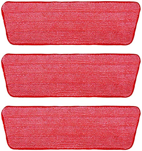 3 Packs Microfiber Mop Refill Pads Spray Mop Replacement Heads Wet/Dry Floor Cleaning Refill Mop Pads Compatible with Rubbermaid Reveal Spray Mop,Libman,Cxhome,Norwex and Bona Mops System