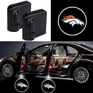 For Denver Broncos Car Door Led Welcome Laser Projector Car Door Courtesy Light Suitable Fit for all brands of cars(Denver Broncos)