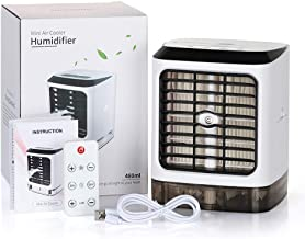 Portable Air Conditioner Small Desktop Fan Mini Evaporator Personal Air Conditioner with Humidifier Purifier Function - 3-Speed Setting
