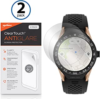 BoxWave Tag Heuer Connected Modular 45 Screen Protector, [ClearTouch Anti-Glare (2-Pack)] Anti-Fingerprint Matte Film Skin for Tag Heuer Connected Modular 45