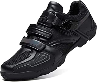 ZMYC Men's Road Cycling Shoes Bicycle Shoes Non-slip Light And Wear Resistant Bike Shoes Road Bike Shoes Mountain Bike Shoes (Color : Black, Size : 39)