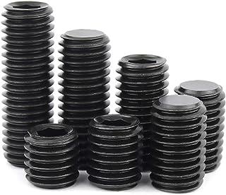 200pcs Alloy Steel Set Screw Assortment with Set Internal Hex Drive Cup-Point Set Screws Assortment Kit Hexagon Socket Hea...