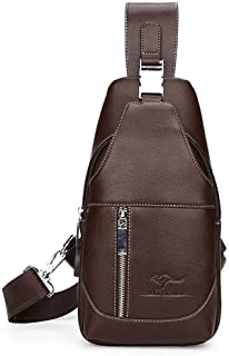 Asdfnfa Backpack, Anti-Scratch Waterproof Crossboby Shoulder Pack for Outdoor Cycling, Running, Hiking, Climbing and Travel (Color : Brown)