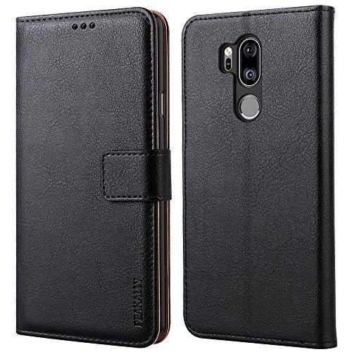 Peakally LG G7 ThinQ Hülle, Premium Leder Tasche Flip Wallet Case [Standfunktion] [Kartenfächern] PU-Leder Schutzhülle Brieftasche Handyhülle für LG G7 ThinQ 6.0