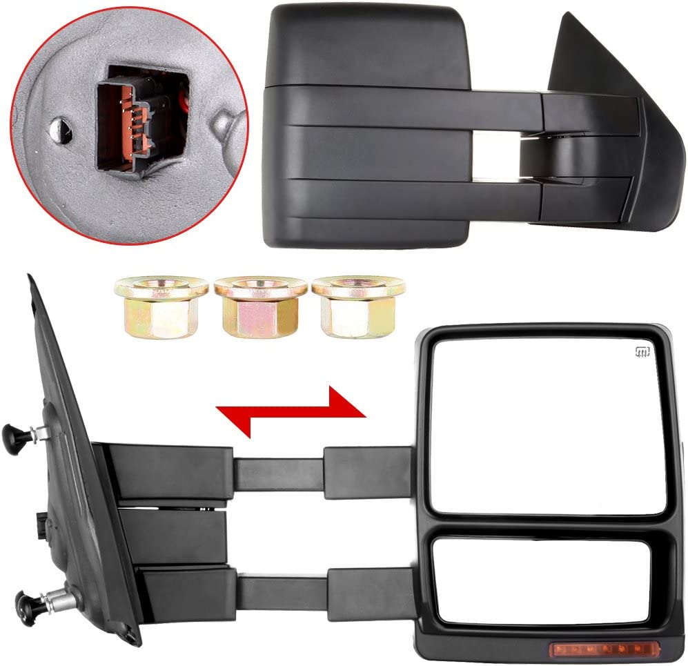 LUJUNTEC Tow Manufacturer direct delivery Mirrors Replacement Ford fit Don't miss the campaign 2007-2014 for