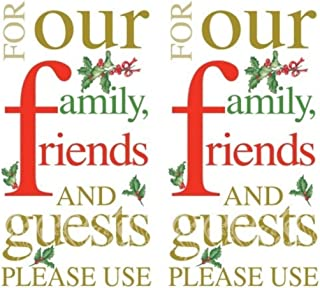 Please Use 3-Ply Paper Guest Towels Napkins, 32-Count Christmas Holiday Dinner Buffet Serviettes
