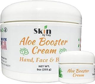 Aloe Vera Cream Face Moisturizer - Organic Shea Butter, Jojoba Oil-Rosacea, Psoriasis Lotion - Eczema Cream (9 oz and 1 Tr...