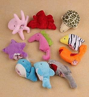 Hot Sale!DEESEE(TM)🌸🌸10Pcs Ocean Soft Animal Puppet Baby Girl Boy Finger Toys Plush Toy