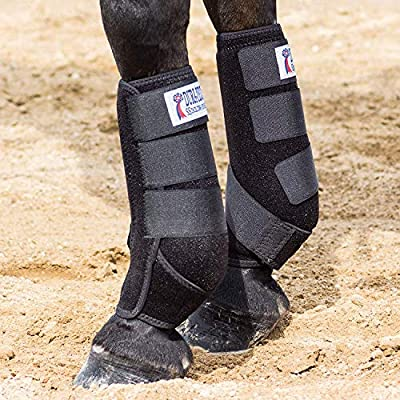 Dura-Tech Extra Support Neoprene Horse Sport Boots | Various Sizes and Colors | Ideal for Training and Trail Riding | Cool & Light | Contour Shape for Front Leg Tendon and Ankle Protection