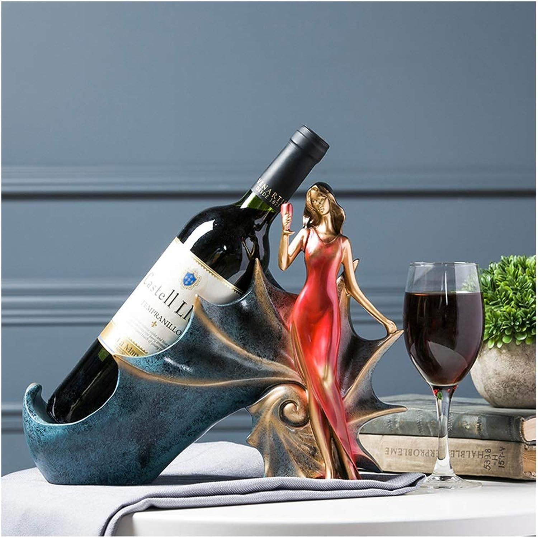 Artículos y equipo de servicio para la restauración Botelleros SMC Europeo Retro Decoración de Rack de Vino Sala de Estar Mesa En Casa Decoración del Gabinete del Vino Resina Creativa Almacenamiento Decoración del Gabinete del Vino