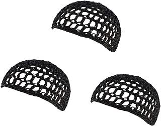 Bettli Thick and Short Hair Net Snoods Women Hair Net for Sleeping Black Pack of 3