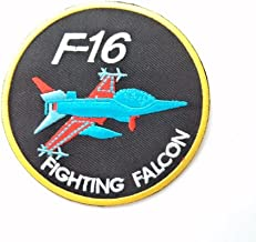 Round F-16 Fighting Falcon Space Planet Iron On Patch