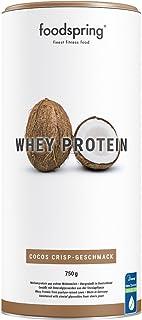 comprar comparacion foodspring Proteína Whey, Sabor Coco, 750g, 100% proteína de suero de leche, Proteína en polvo para el desarrollo muscular