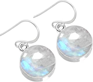 Jeweloporium Solid 925 Sterling Silver Gemstone Handmade Earring For Women