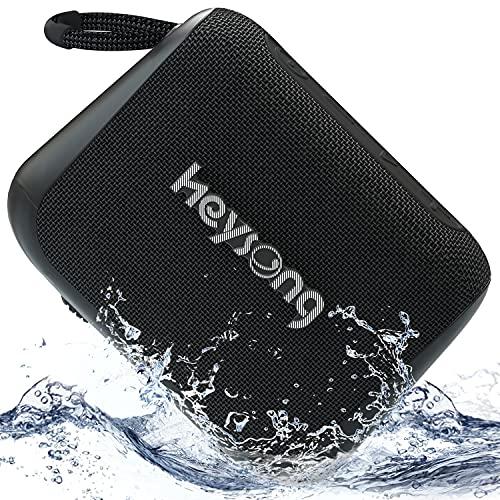Heysong Kleine Bluetooth Box, Tragbarer Handy Bluetooth Lautsprecher mit IPX7 Wasserschutz, 24h Akku, Intensiver Bass, EQ, 20m Reichweite, Freisprechfunktion, Musikbox für Sauna, Geschenke für Männer