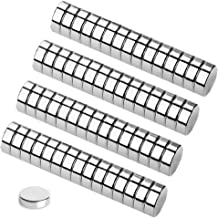 Round Refrigerator Magnets,60PCS 8X3MM Small Cylinder Magnets for Fridge, Kitchen, Home, Office, School, Science, Crafts