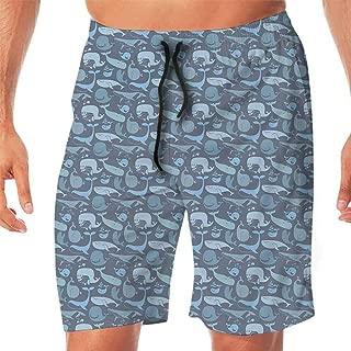 Summer Shorts Drawstring with Elastic Waist and Pocket