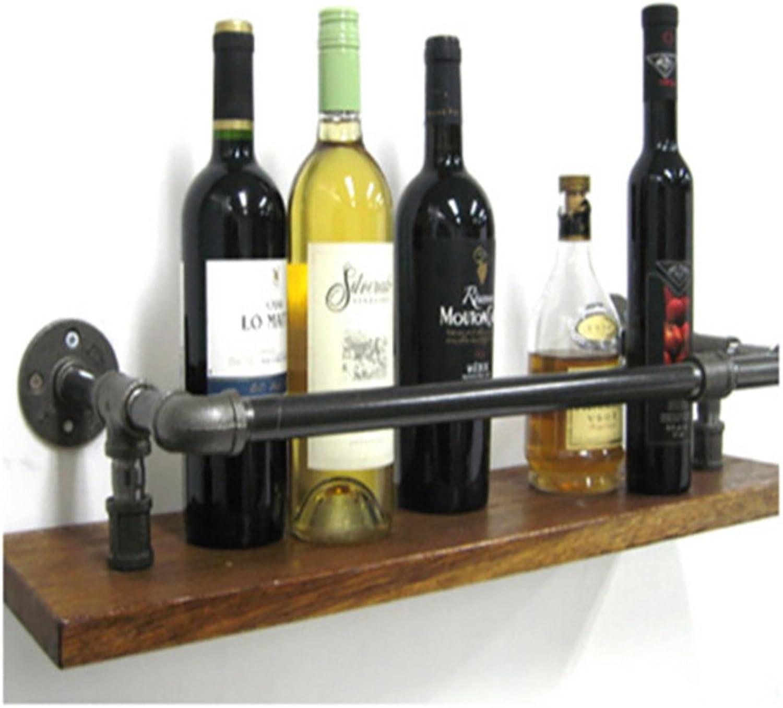 ZFF Wine rack Estante del Vino, Estante del Vino de la Barra del Estante del Vino de la ejecución de la Parojo del Tubo del Hierro labrado del desván, Estante de exhibición (Tamaño   50cm)