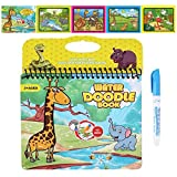 JANTODEC Aqua Water Doodle Books Reusable Water Coloring Books Drawing Painting Educational Toy Travel Kits Gift for Toddlers Age 3+ Kids Children Girls and Boys