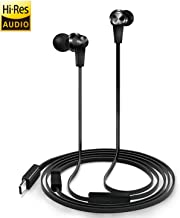 USB Type C Earphones, Earbud Headphones with Mic & DAC Chipset for 2018 New iPad Pro/MacBook, Google Pixel 3/2/XL, HTC U12/U11/10, Sony Xperia, Xiaomi, Huawei, OnePlus, Essential, Razer USB C Phones