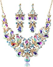LAN PALACE Fashion Jewelry Gold Plated Austrian Crystal Necklace and Earrings for Women Wedding Dress Party Jewelry Set Gift Box