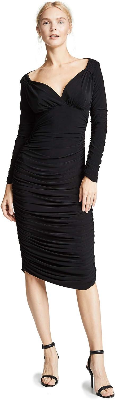 Norma Kamali Women's Long Sleeve Tara Dress Bl