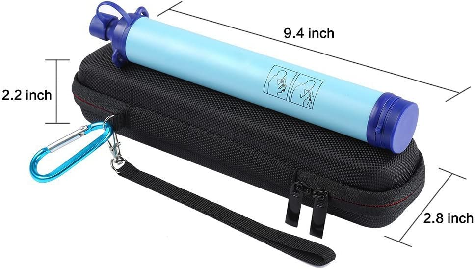 LuckyNV Carry Travel Case Cover for LifeStraw and LifeStraw Steel Personal Water Filte Sewage Purification Storage Zipper Protective Bags
