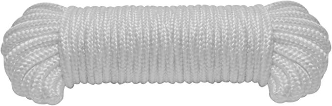"""9mm(3/8"""") Nylon Braided Rope,50ft/100ft Paracord, General-Purpose Utility Rope,Polypropylene Rope for Camping,Sports and O..."""