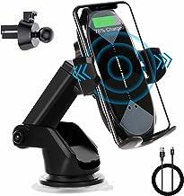 اتصال بی سیم شارژر اتومبیل ، نگهدارنده تلفن اتومبیل گیربکس اتوماتیک Qi 10W/7.5W شارژ سریع تلفن اتومبیل پایه اتصال هوا ایر هوا سازگار با iPhone Series 12/11/Pro/Max/X/8 ، Samsung S10/S10/S9/S9/توجه