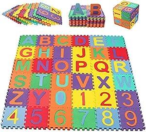 Swonuk Baby Foam Play Mat, 36pcs 5.9x5.9 Inches Interlocking Kid's Floor Puzzle Colorful EVA Tiles New