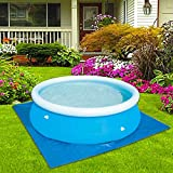 6ft in Diameter Swimming Pool Cover, Durable Pool Dust Cover Rainproof Pool Cover for Round Above Ground Swimming Pools (Suitable for 6ft Diameter Pool)