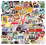 102pcs Friends TV Show Merchandise Fans Stickers for Laptop Water Bottle Luggage Snowboard Bicycle Skateboard Decal for Kids Teens Adult Waterproof Aesthetic Stickers