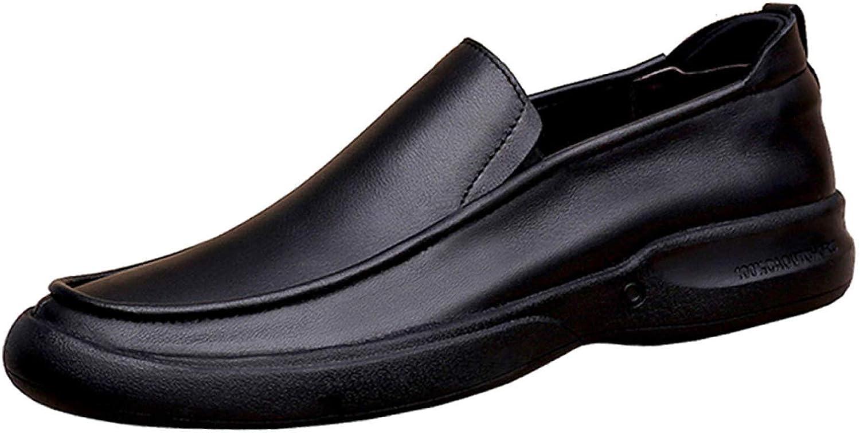 Hhgold Business casual shoes Men's Lok Fu shoes Soft dregs footwear (color   Black, Size   39EU)