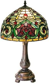 Warehouse of Tiffany 1669-MB163 Tiffany-style Jeweled Petite Table Lamp, Green