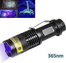Pingtr Mini 365nm UV Linterna p/úrpura 1 x 14500 led Linterna de Aluminio