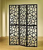 Legacy Decor Intricate Mosaic Three Panel Folding Screen - Room Divider