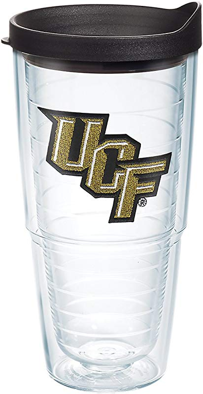 Tervis 1282786 UCF Knights Primary Logo Tumbler With Emblem And Black Lid 24oz Clear