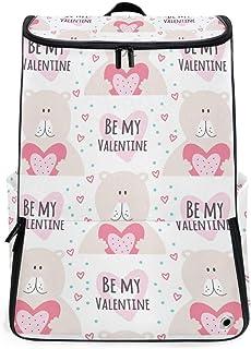 MALPLENA Mochila de Senderismo para Camping al Aire Libre Be My Valentine Bear Mochila de Viaje